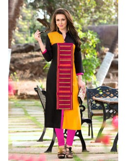 Office Wear Readymade Multi-Colour Rayon Tunic - 18876