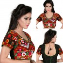 Ethnic Wear Readymade Multi-Colour Cotton Blouse - 18964