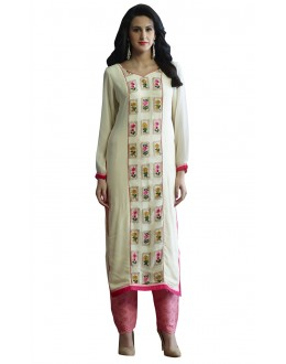Ethnic Wear Readymade Beige Pure Georgette Tunic - 18997