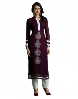 Party Wear Readymade Magenta Pure Georgette Tunic - 18999