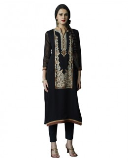 Readymade Black Pure Georgette Tunic - 19000