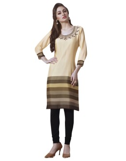 Office Wear Readymade Beige Georgette Tunic - 19003