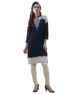 Office Wear Readymade Blue Georgette Tunic - 19004