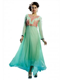 Readymade Light Green Pure Georgette Tunic - 19011