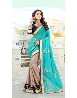 Festival Wear Multi-Colour Chiffon Saree  - 19028