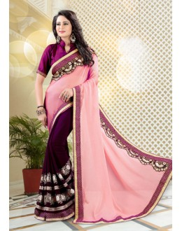 Festival Wear Multi-Colour Chiffon Saree  - 19033
