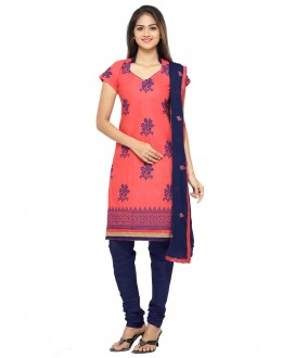 Party Wear Peach Chanderi Salwar Suit - 19080