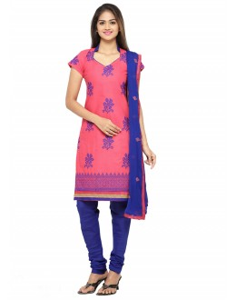 Party Wear Pink Chanderi Salwar Suit - 19081