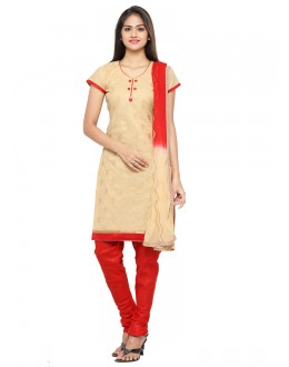 Office Wear Beige Glace Cotton Salwar Suit - 19091
