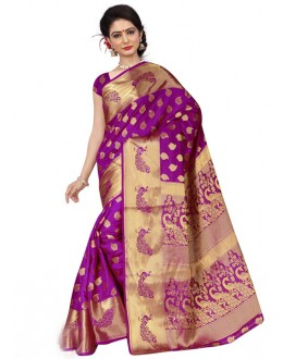 Festival Wear Purple Silk Saree  - 19205
