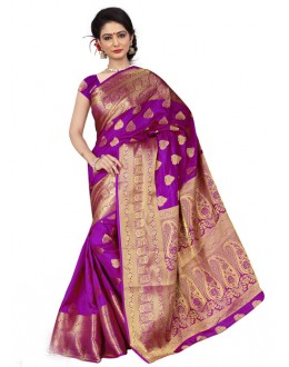 Festival Wear Purple Silk Saree  - 19210