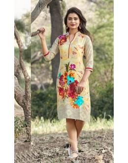 Office Wear Readymade Multi-Colour Kurti - 19213