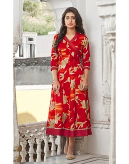 Festival Wear Readymade Multi-Colour Cotton Kurti - 19220