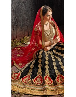 Party Wear Black Designer Lehenga Choli - 19522