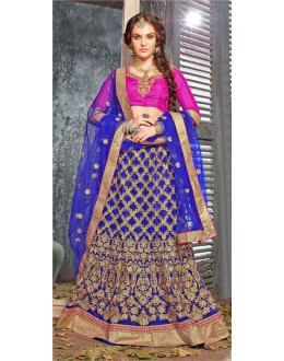 Traditional Wear Blue Designer Lehenga Choli - 19525