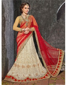 Party Wear White Designer Lehenga Choli - 19530