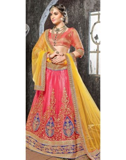 Traditional Wear Orange Designer Lehenga Choli - 19533
