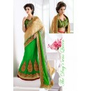 Designer Multi-Colour Embroidery Lehenga Saree - 19546