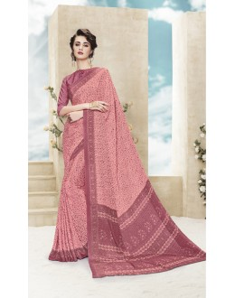 Casual Wear Multi Colour Printed Saree  - 19877