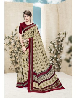 Party Wear Multi Colour Printed Saree  - 19882