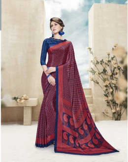 Ethnic Wear Multi Colour Printed Saree  - 19883