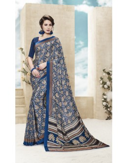 Festival Wear Multi Colour Printed Saree  - 19884