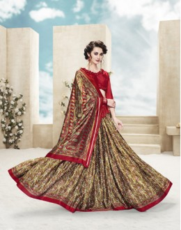 Party Wear Multi Colour Printed Saree  - 19885