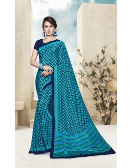 Wedding Wear Multi Colour Printed Saree  - 19887