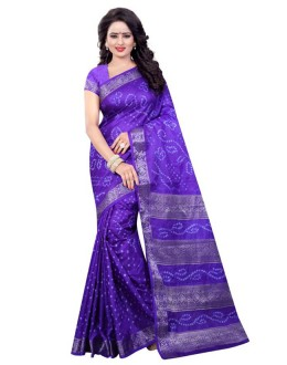 Party Wear Blue Cotton Silk Saree  - 20051