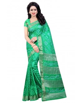 Festival Wear Aqua green Cotton Silk Saree  - 20052