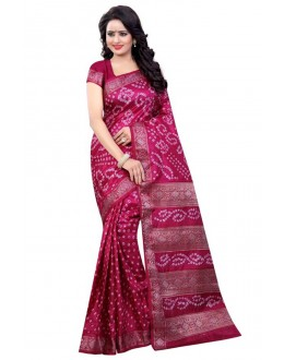 Casual Wear Pink Cotton Silk Saree  - 20054