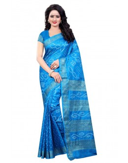 Ethanic Wear Sky Blue Cotton Silk Saree  - 20055