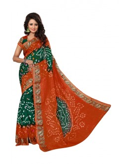 Ethanic Wear Fenta & Rama Silk Cotton Saree  - 20069