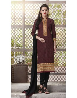 Party  Wear Readymade South Cotton Maroon Salwar Suit - 20084