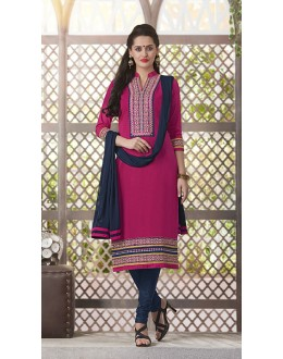 Casual Wear Readymade South Cotton Pink Salwar Suit - 20087
