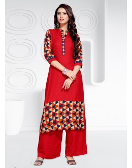Ethnic Wear Readymade Multi-Colour Rayon  Kurti - 20463