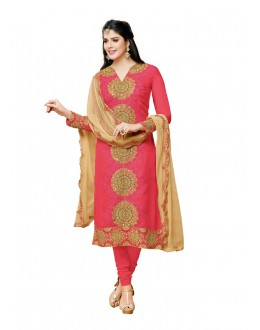 Wedding Wear Pink Georgette Salwar Suit - 20513