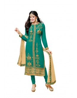 Festival Wear Green Georgette Salwar Suit - 20516
