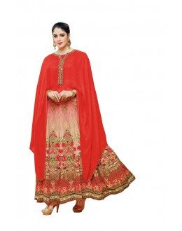 Festival Wear Red Georgette Anarkali Suit - 20520