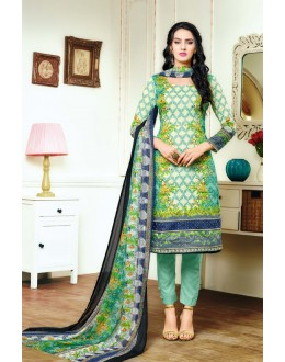 Wedding Wear Multicolour Satin Cotton Salwar Suit - 20702