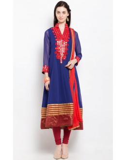 Festival Wear Readymade Blue Salwar Suit  - 20900