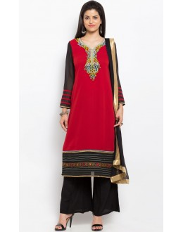 Wedding Wear Readymade Red Salwar Suit  - 20901