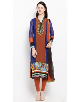 Casual Wear Readymade Blue Salwar Suit  - 20902