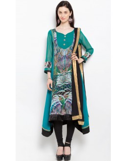 Casual Wear Readymade Green Salwar Suit  - 20912