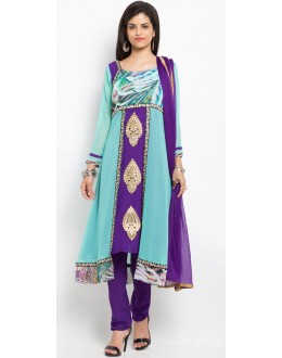 Casual Wear Readymade Blue Salwar Suit  - 20916