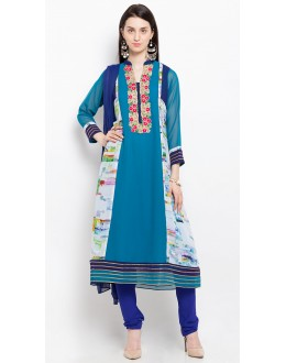 Festival Wear Readymade Blue Salwar Suit  - 20917