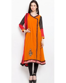 Traditional Wear Readymade Mustard Salwar Suit  - 20920