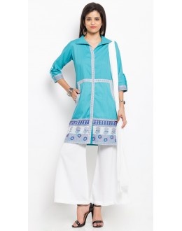 Festival Wear Readymade Blue Salwar Suit  - 20927