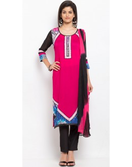 Ethnic Wear Readymade Pink Salwar Suit  - 20929