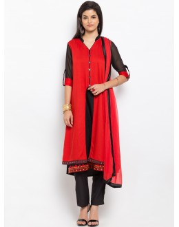 Party Wear Readymade Red Salwar Suit  - 20939